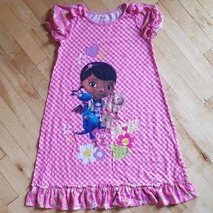 Disney Doc McStuffins Pajama Dress size 10